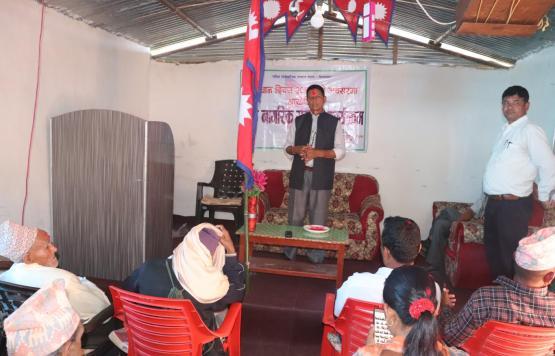 जेष्ठ नागरिक सम्मान कार्यक्रममा मेयर श्री देवराज देवकोटा